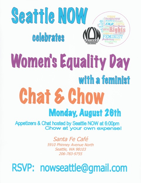 Time to RSVP to nowseattle@gmail.com for August 26, 2013 Chat and Chow